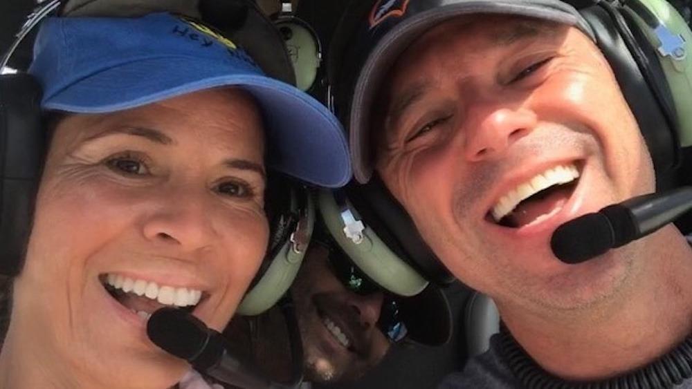 Kenny Chesney y Maria Rodriguez volando