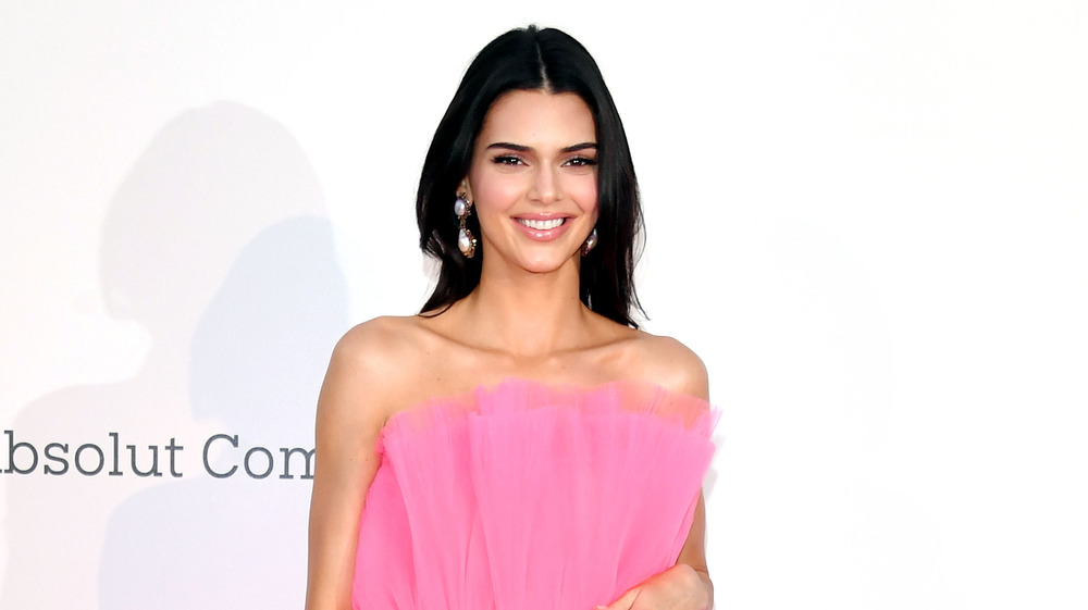 Kendall Jenner posa con un vestido rosa