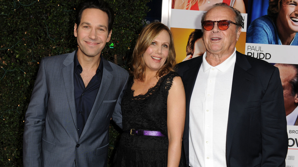 Jack Nicholson y Paul Rudd, sonriendo