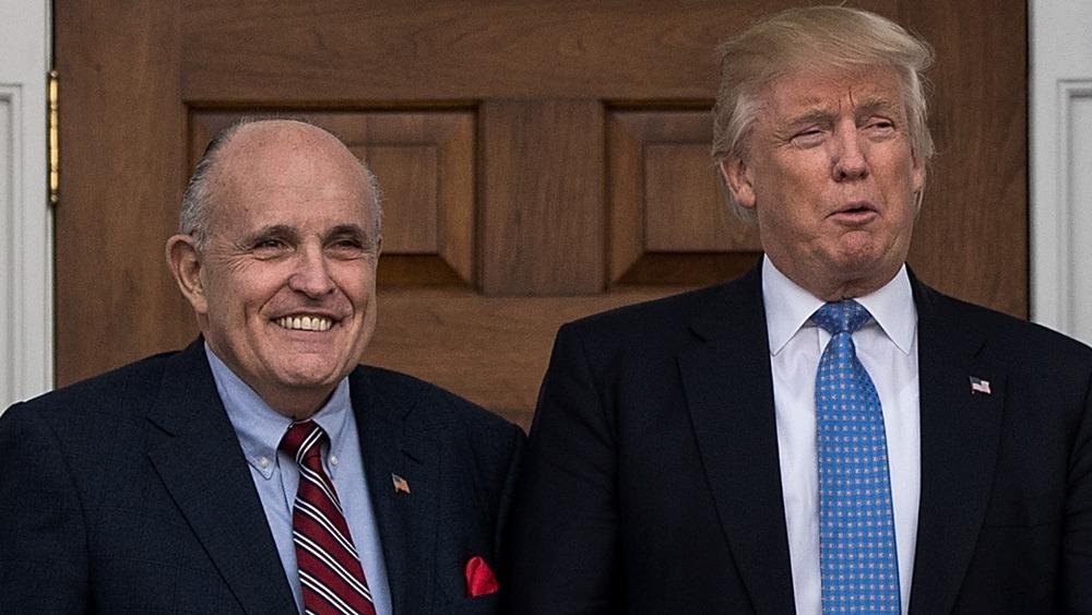 Giuliani y Trump en el Trump International Golf Club, noviembre de 2016
