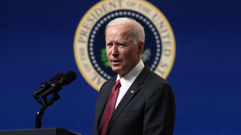 Joe Biden habla en Washington, DC