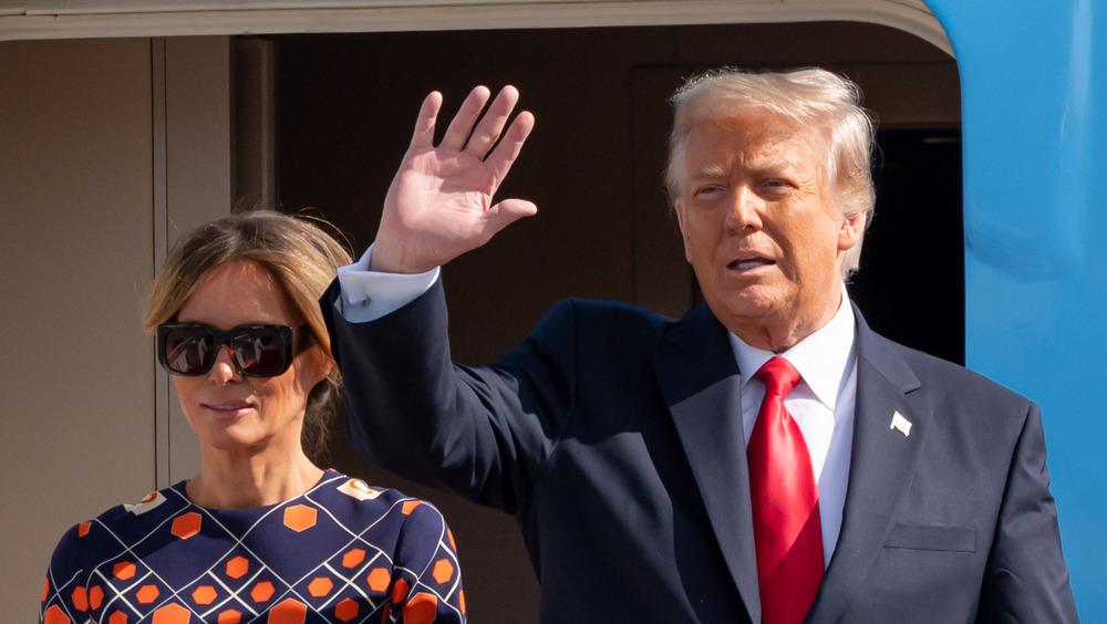 Ola de Donald y Melania Trump