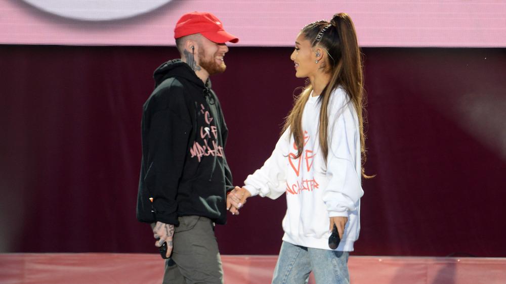 Mac Miller y Ariana Grande actuando