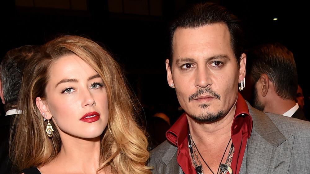 Amber Heard y Johnny Depp en un evento