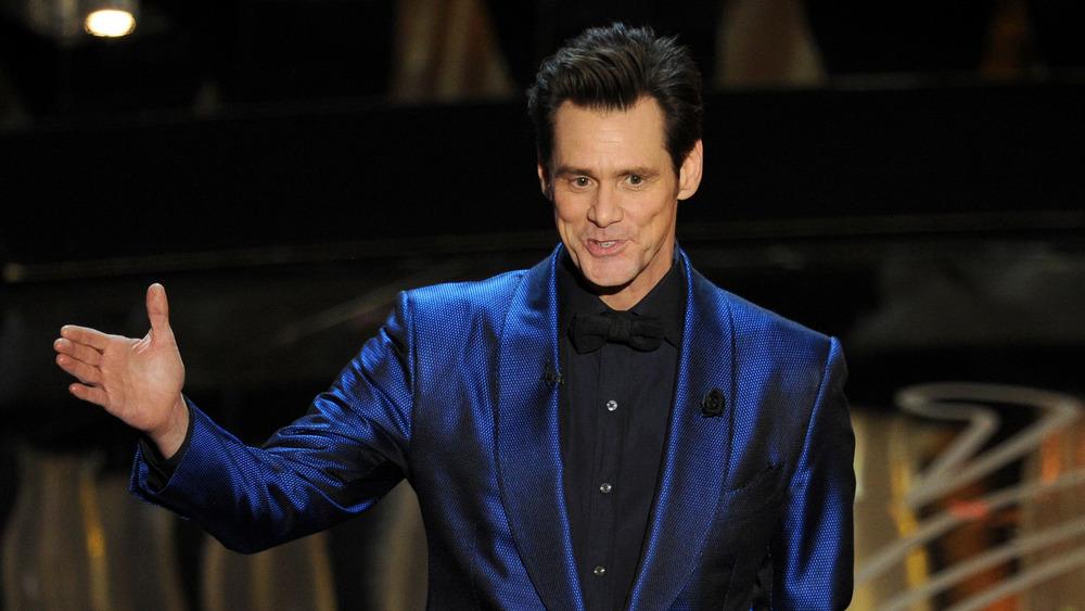 Jim Carrey en el escenario de los Oscar