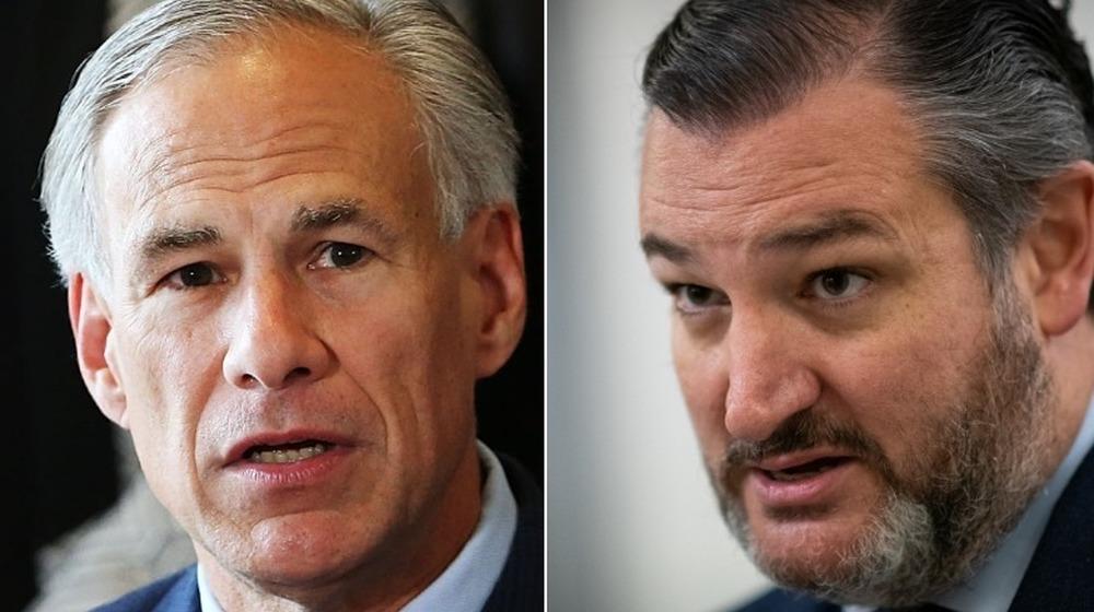 El gobernador de Texas Greg Abbott y el senador Ted Cruz