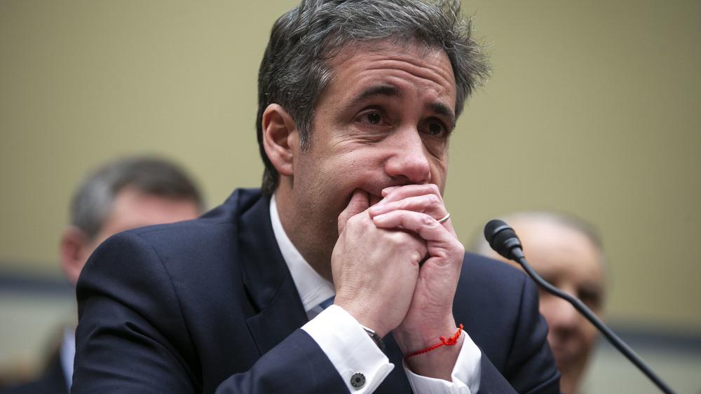 Michael Cohen testificando ante el Comité de Supervisión de la Cámara