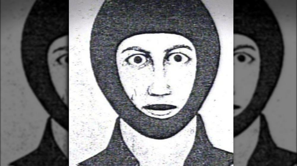 Boceto policial de DeAngelo con pasamontañas sin rostro