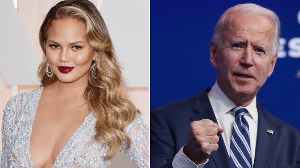 Chrissy Teigen y Joe Biden
