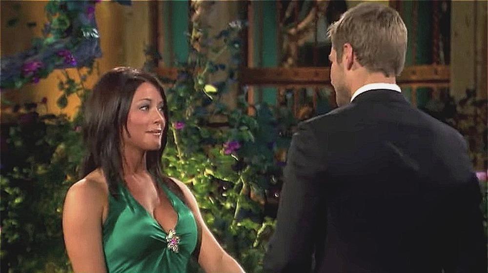 Chantal O'Brien y Brad Womack en The Bachelor