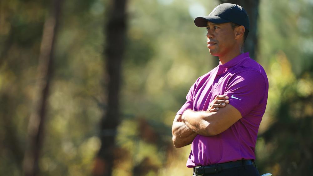 Tiger Woods, posando