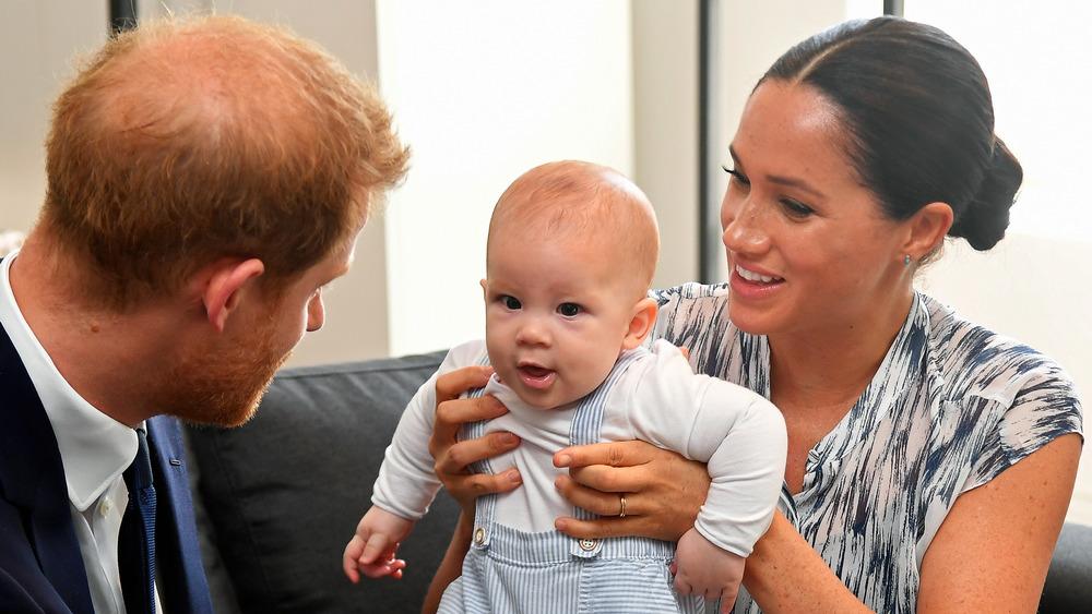 Príncipe Harry, Archie y Meghan Markle