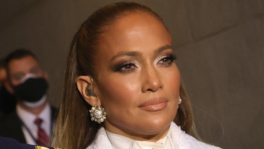 Jennifer Lopez en la inauguración de 2021