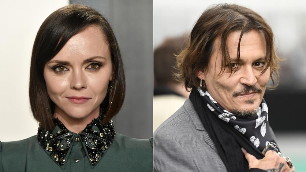 Christina Ricci y Johnny Depp