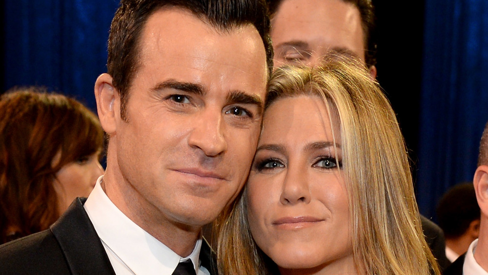 Justin Theroux y Jennifer Aniston en un evento