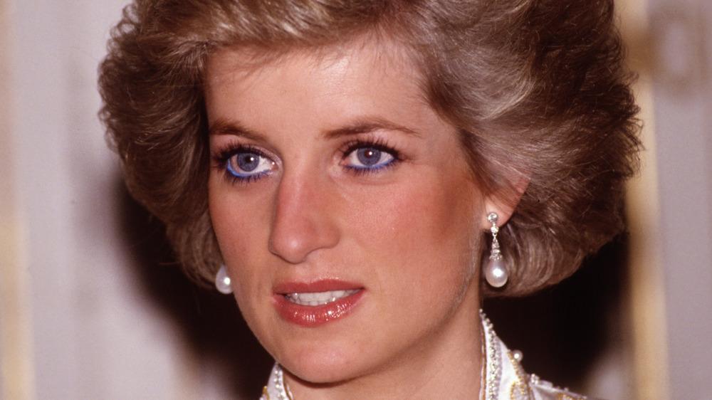 La princesa Diana durante la gira real de Francia