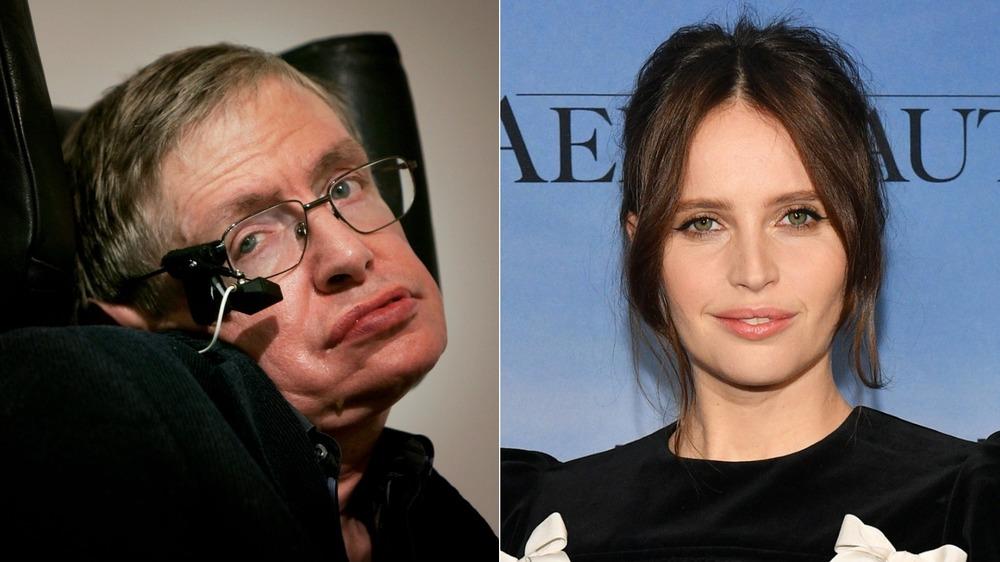 Felicity Jones y Stephen Hawking