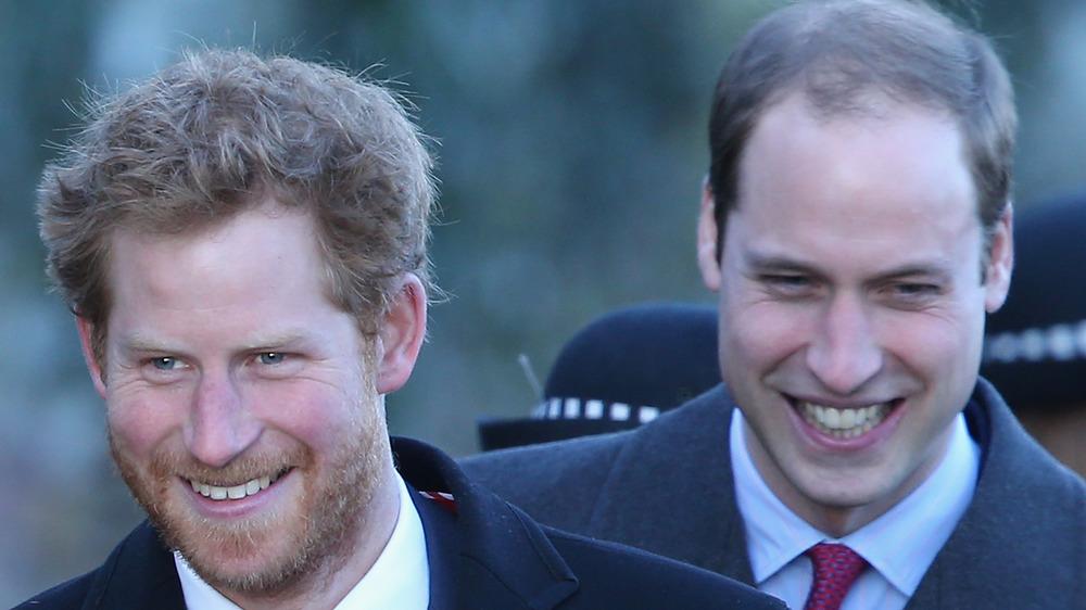 El príncipe Harry y el príncipe William riendo