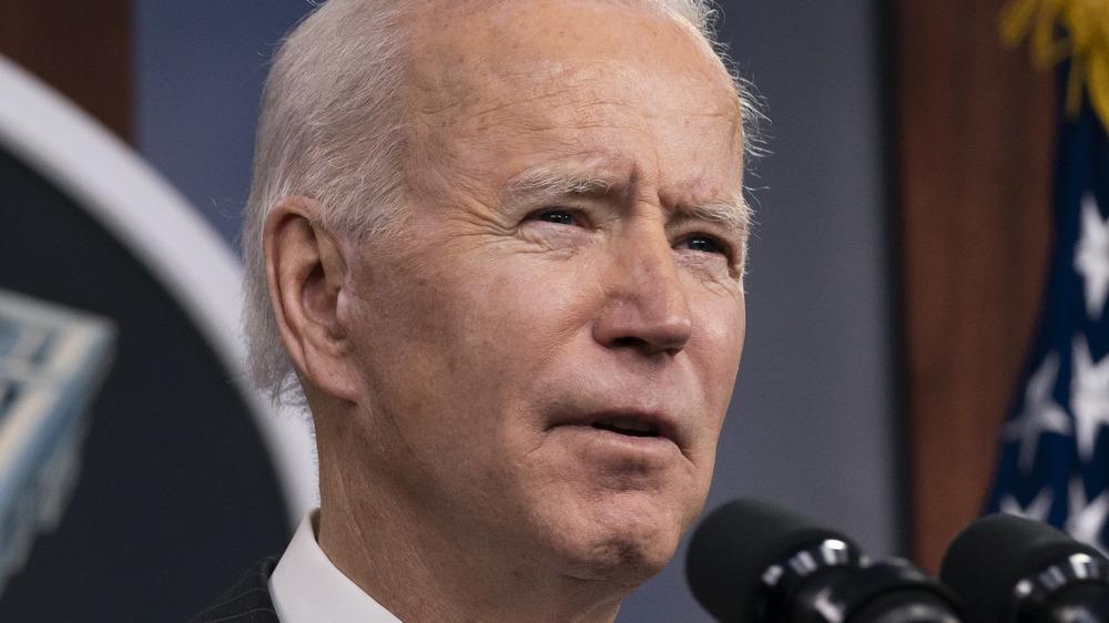 Joe Biden habla en el Pentágono