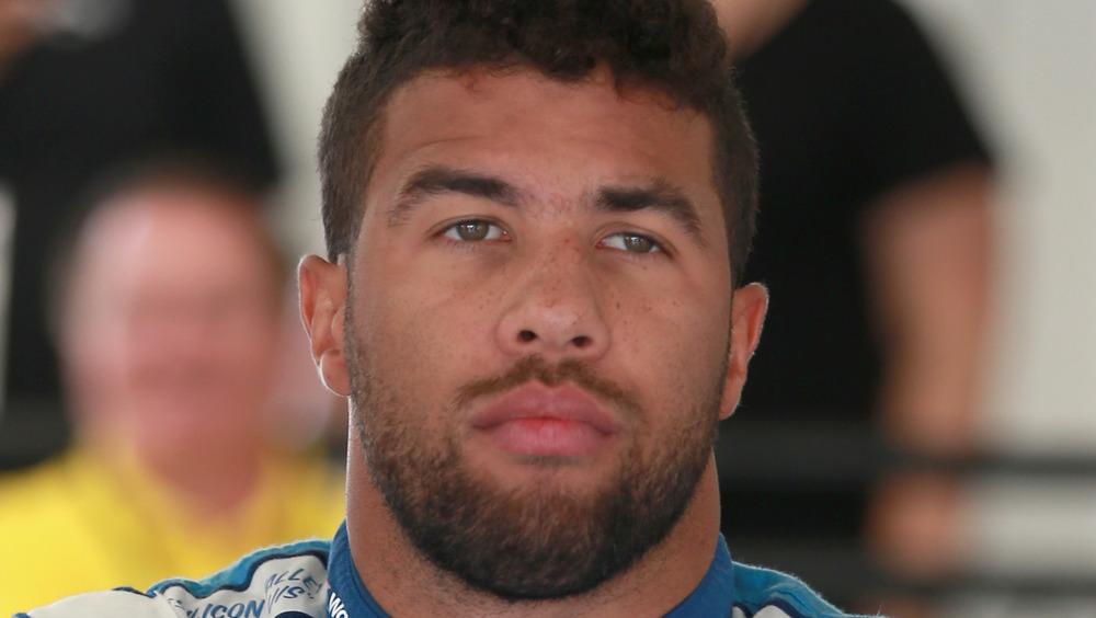 Bubba Wallace en serio en Richmond Raceway