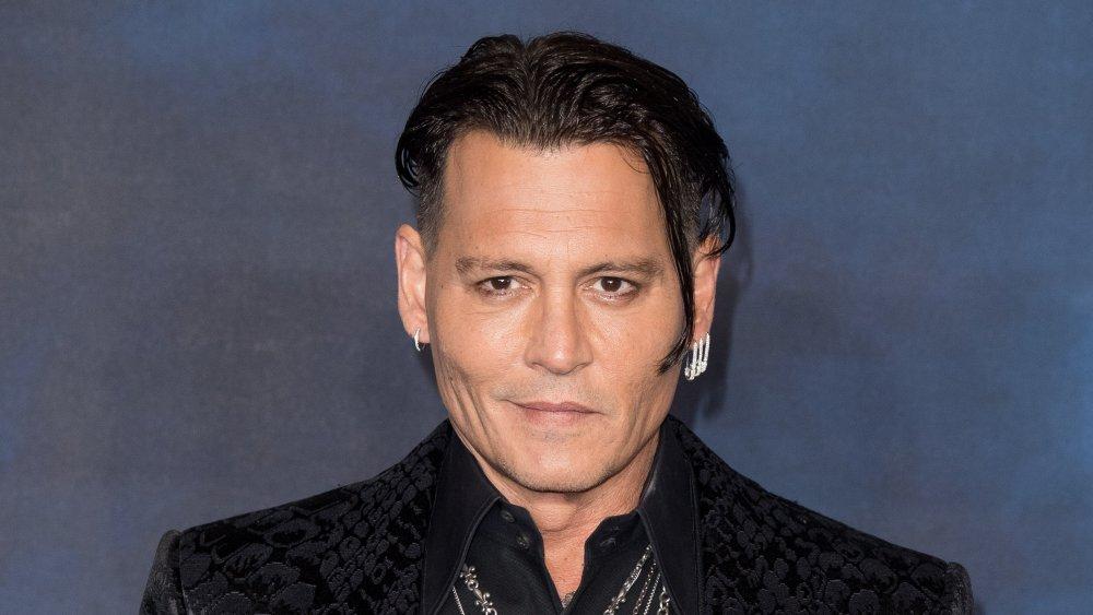 Johnny Depp en el estreno de Los crímenes de Grindelwald