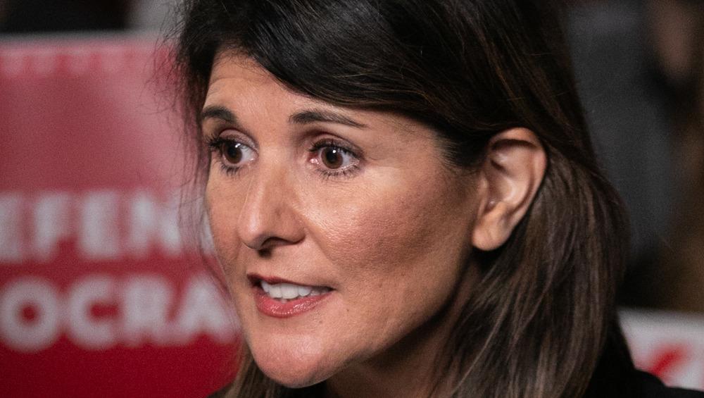 Nikki Haley en un mitin en Georgia, diciembre de 2020