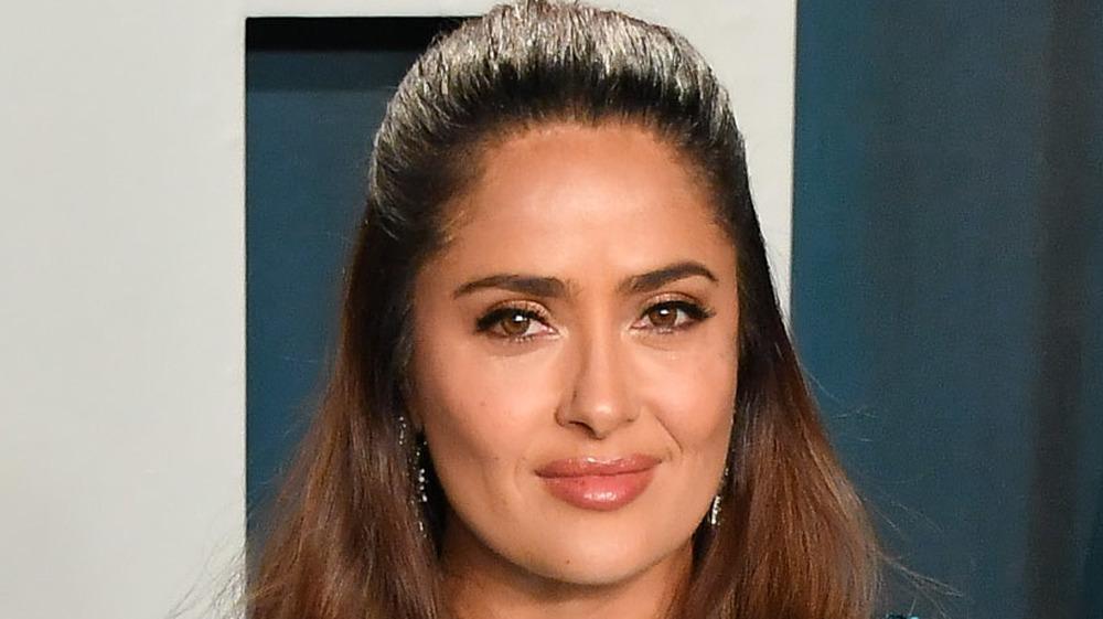 Salma Hayek en una fiesta de los Oscar