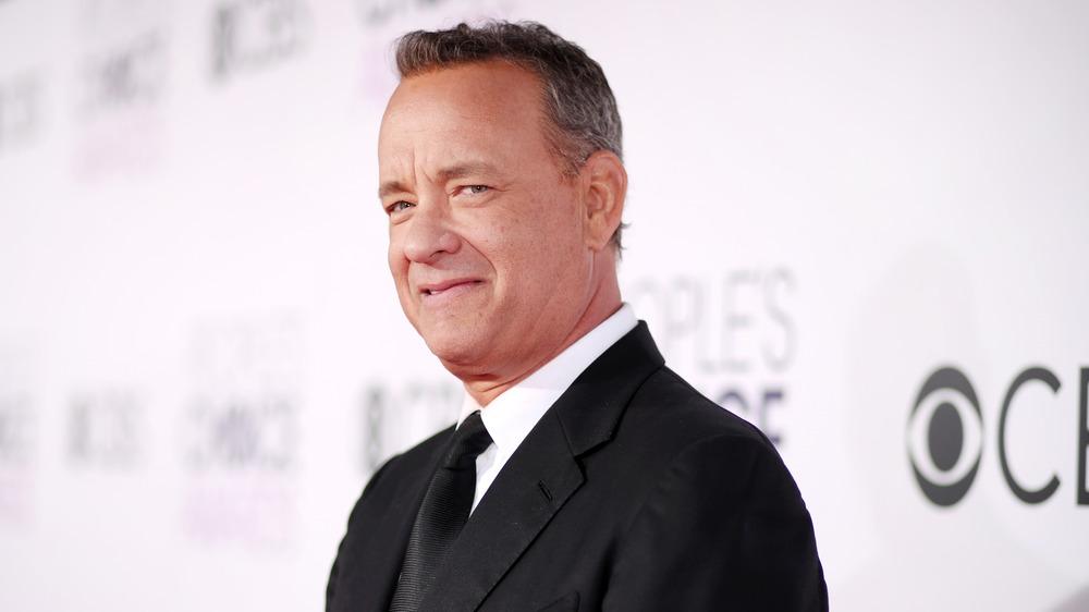 Tom Hanks, posando