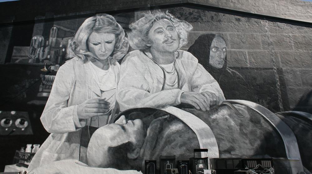Mural de Frankenstein joven en Fox Studios