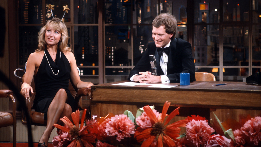 Teri Garr y David Letterman