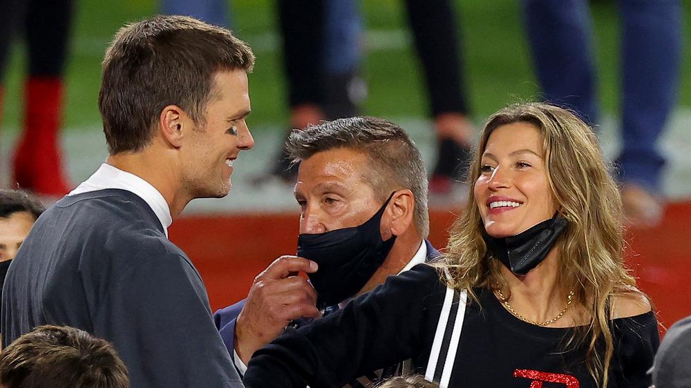 Tom Brady y Gisele Bundchen comparten una sonrisa