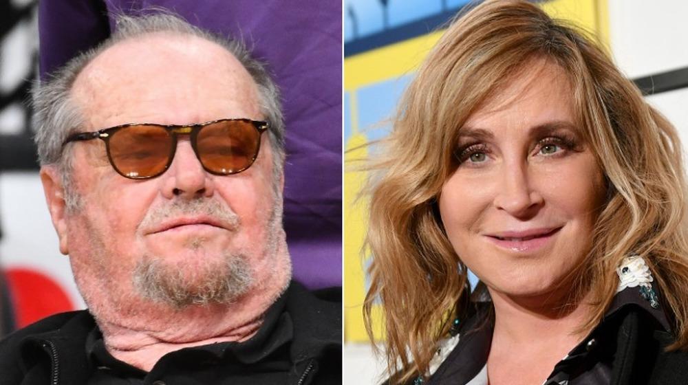 Jack Nicholson apartó la mirada;  Sonja Morgan mirando a la cámara