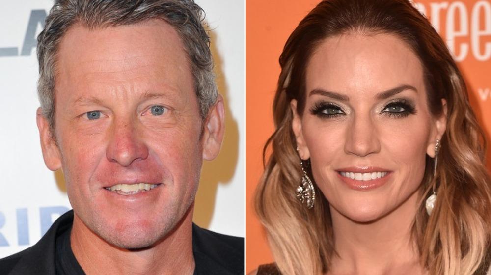 Lance Armstrong sonriendo;  Cary Deuber sonriendo