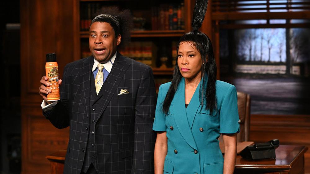 Kenan Thompson y Regina King en SNL