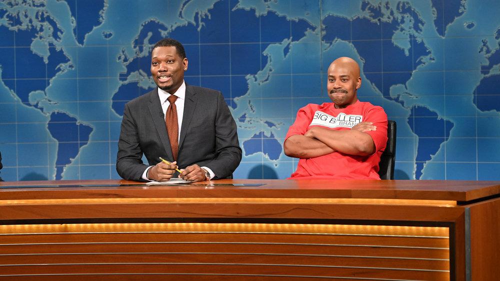 Michael Che y Kenan Thompson en SNL