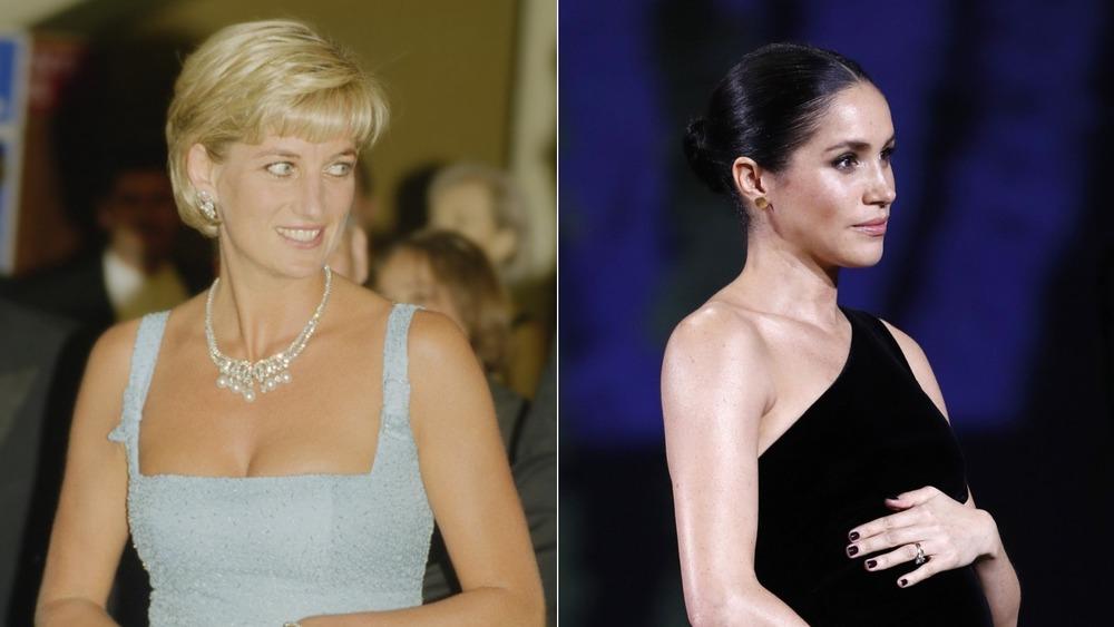 Las escandalosas elecciones de moda de la princesa Diana y Meghan Markle