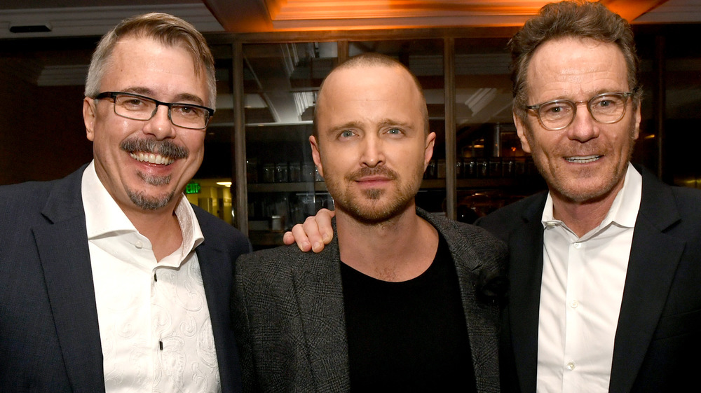 Vince Gilligan, Aaron Paul y Bryan Cranston de Breaking Bad