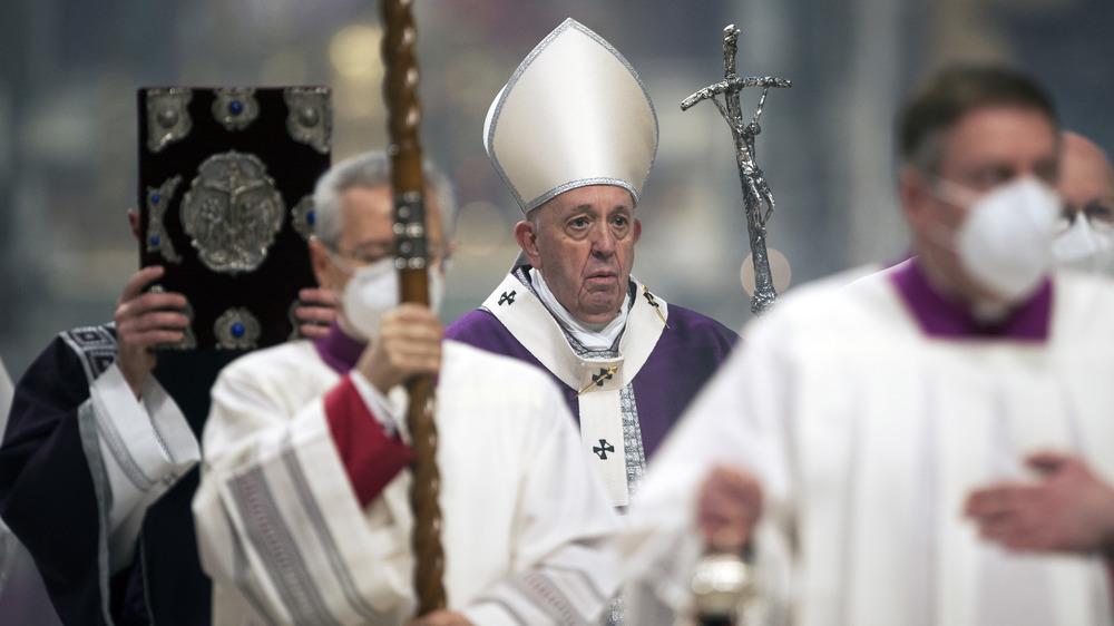 El Papa Francisco en la misa en Erbil, Irak, marzo de 2021