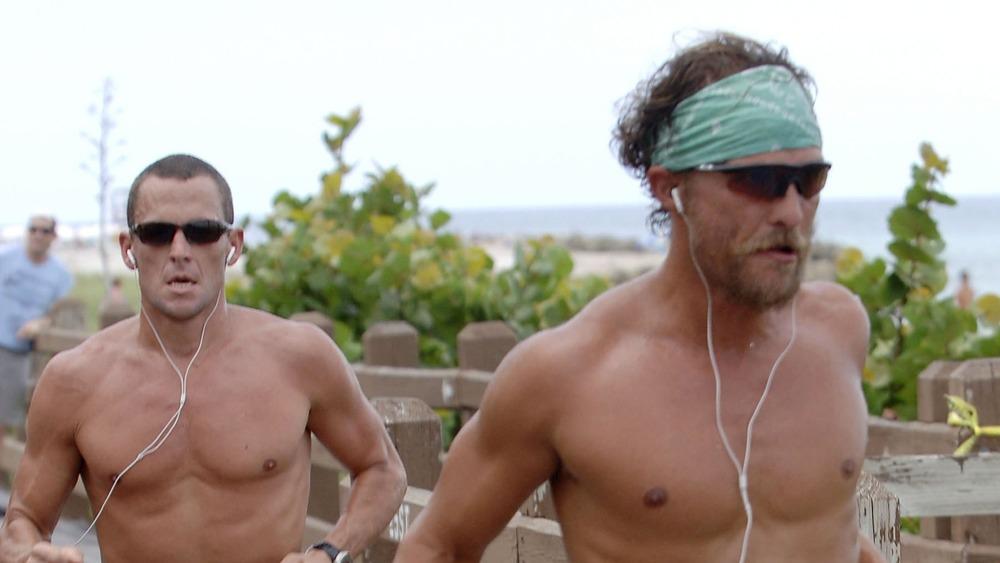 Lance Armstrong y Matthew McConaughey salen a correr