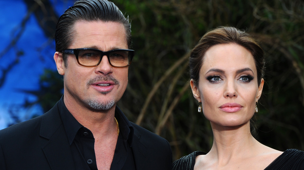 Brad Pitt, Angelina Jolie, posando