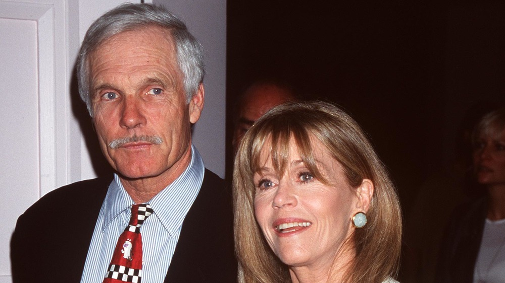 Ted Turner y Jane Fonda en la 23a edición de los Crystal Film Awards en 1999
