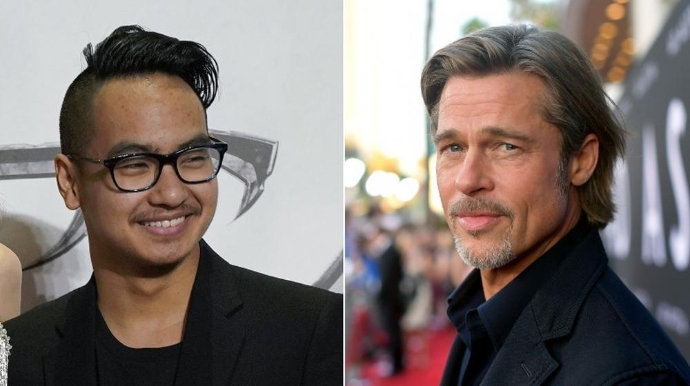 Maddox Jolie-Pitt y Brad Pitt en eventos