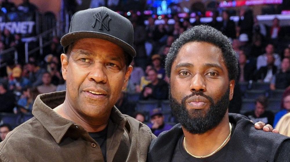 Denzel Washington y su hijo John David Washington posando juntos