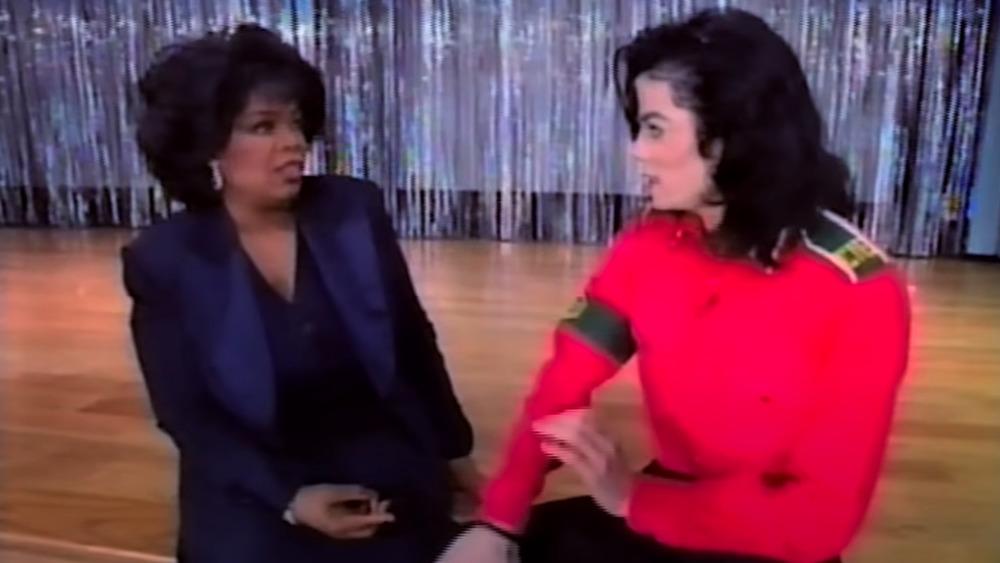 Oprah Winfrey entrevistando a Michael Jackson