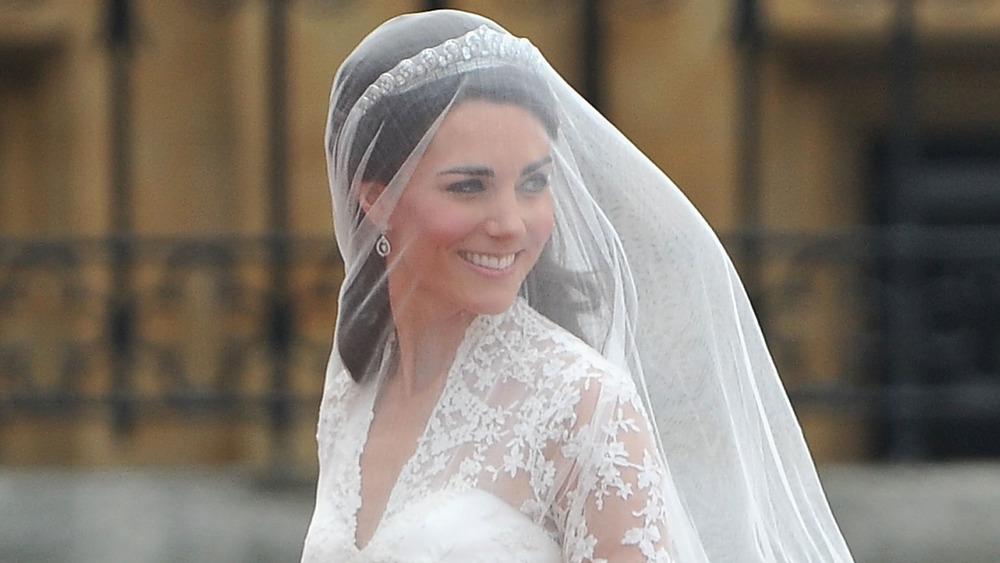 Kate Middleton con vestido de novia