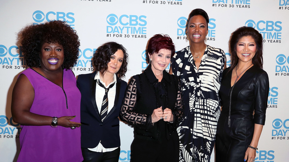 Sharon Osbourne y los coanfitriones de The Talk