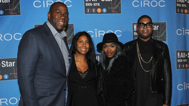 Magic Johnson, Cookie Johnson, Elisa Johnson, EJ Johnson