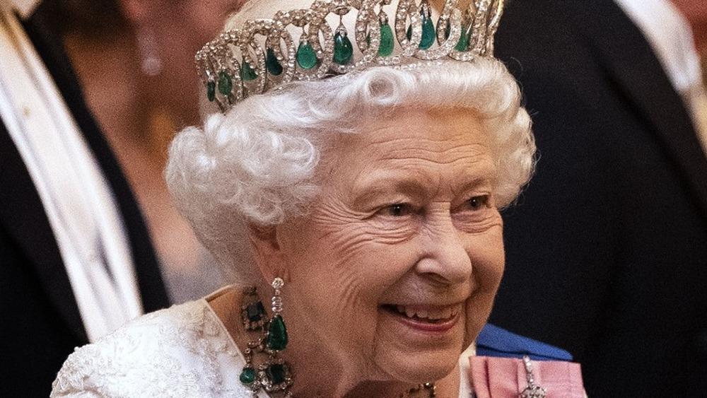 La reina Isabel II en el Palacio de Buckingham el 11 de diciembre de 2019