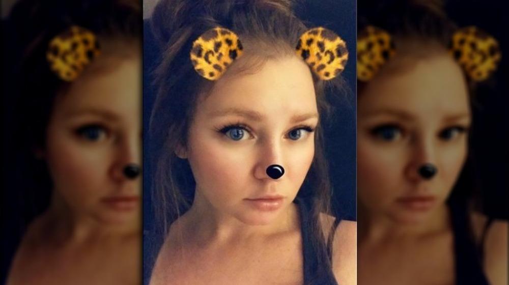 Anna Delvey usando un filtro de Snapchat