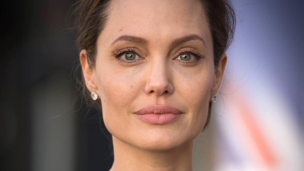 Angelina Jolie, posando